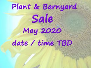 Plant Sale Barnyard Sale at the farm