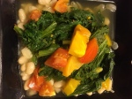 mustard greens and beans